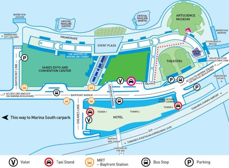 Plan Marina Bay Sands